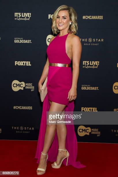 Kristy James arrives ahead of the 7th Annual CMC Music Awards 2017 at The Star Gold Coast on March 23 2017 in Gold Coast Australia