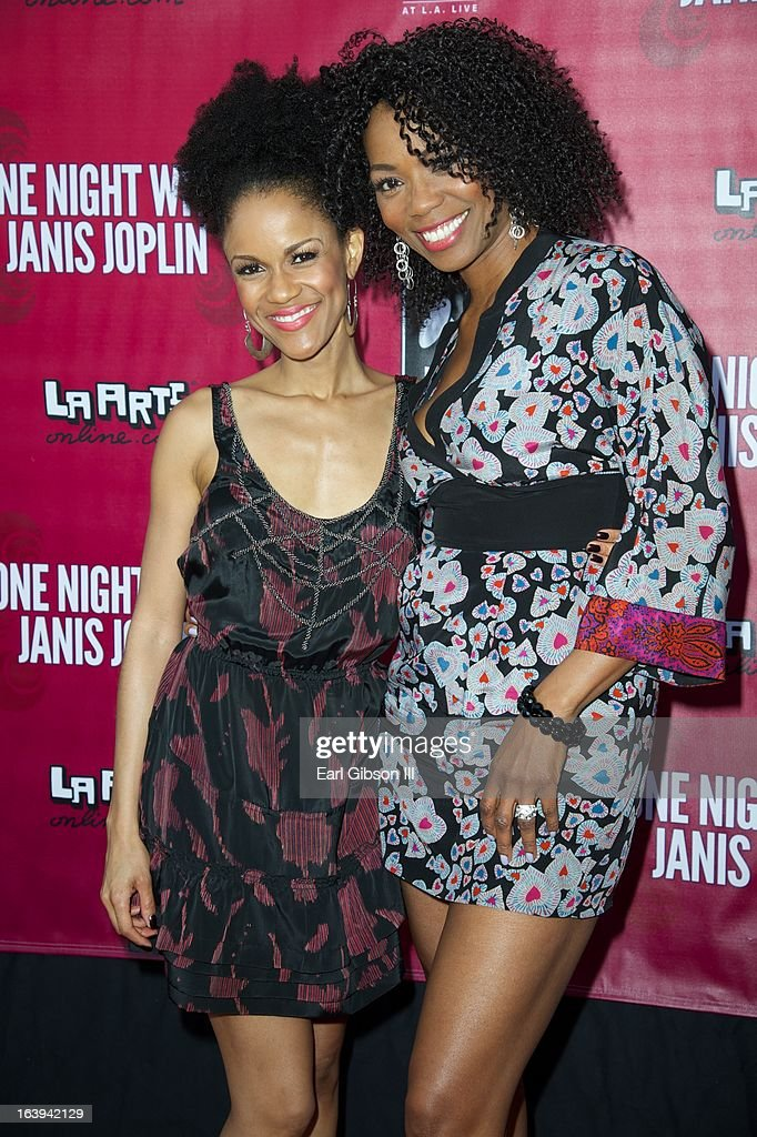 Kristy Johnson and Vanessa A.Williams attend the opening night performance of 'One Night With Janis Joplin' at Pasadena Playhouse on March 17, 2013 in Pasadena, California.