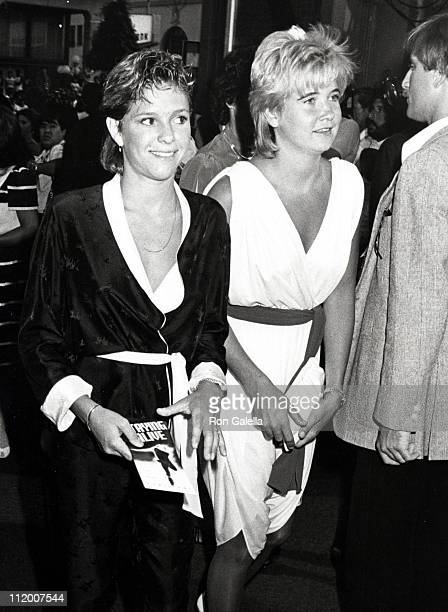 Kristy McNichol and Ina Liberace during Stayin' Alive Premiere july 11 1983 at Mann's Chinese Theater in Hollywood California United States