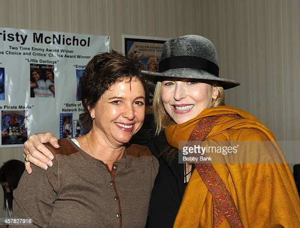 """Kristy McNichol and Tatum O'Neal who starred in """"Little Darlings"""" together reunite at Day 1 of the Chiller Theatre Expo at Sheraton Parsippany Hotel..."""