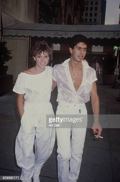 Kristy McNichol wearing white with her boyfriend circa 1970 New York