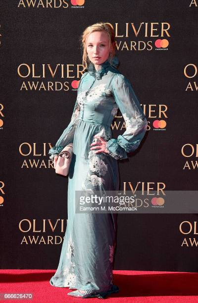 Kristy Philipps attends The Olivier Awards 2017 at Royal Albert Hall on April 9 2017 in London England