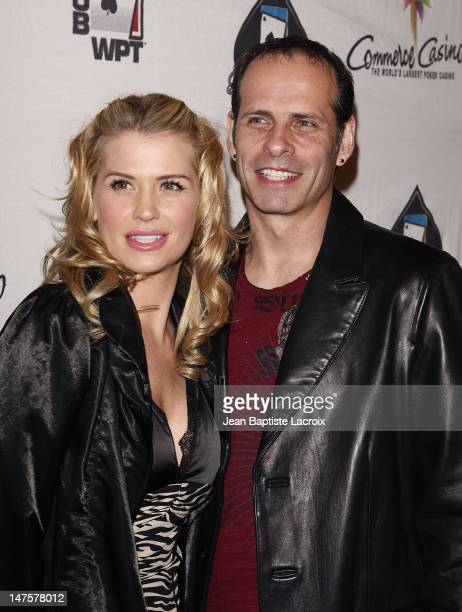 Kristy Swanson and husband Lloyd Eisler attend the 7th Annual World Poker Tour Invitational at Commerce Casino on February 28 2009 in Los Angeles...