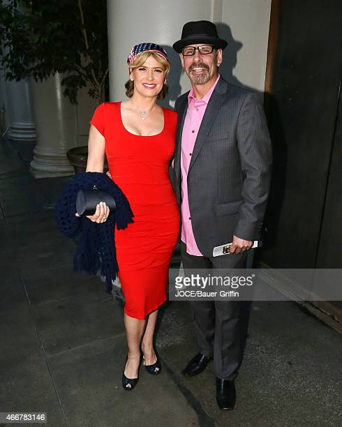 Kristy Swanson and Lloyd Eisler are seen in Los Angeles on March 14, 2015 in Los Angeles, California.