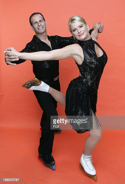 Kristy Swanson and Lloyd Eisler during Skating With Celebrities Portrait Gallery in Hollywood California United States