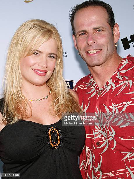 Kristy Swanson and Lloyd Eisler during The Concern Foundation for Cancer Research - 32nd Annual Block Party at Paramount Studios Backlot in...