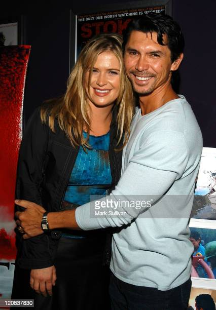 "Kristy Swanson and Lou Diamond Phillips during Premiere Screening of ""Red Water"" at Laemmle Theater in Santa Monica, California, United States."