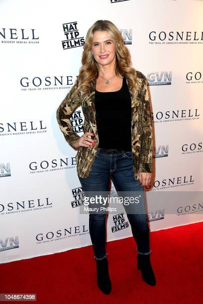 """Kristy Swanson arrives at """"Gosnell: The Trial of America's Biggest Serial Killer"""" Premiere at Saban Theatre on October 9, 2018 in Beverly Hills,..."""