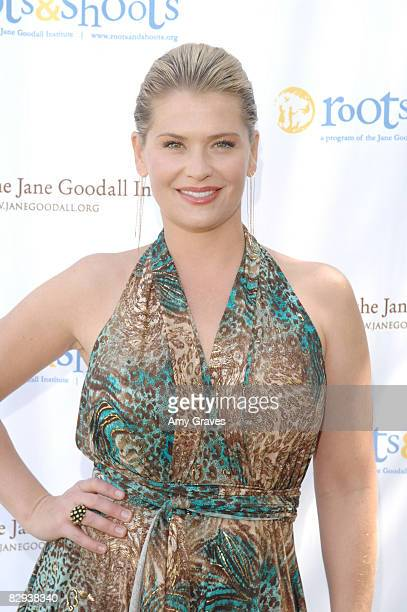 Kristy Swanson attends Jane Goodall's Roots Shoots Day of Peace at Griffith Park on September 21 2008 in Los Angeles California