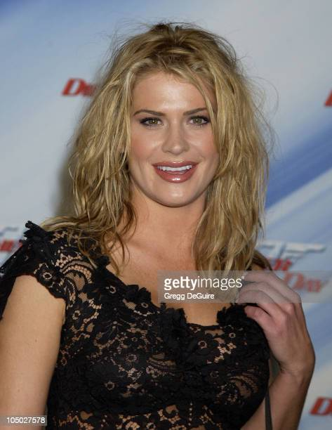 Kristy Swanson during Die Another Day Los Angeles Premiere at Shrine Auditorium in Los Angeles California United States