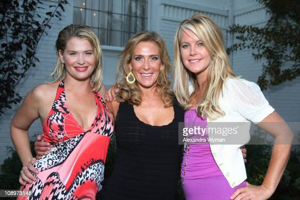 Kristy Swanson Janet Crown and Maeve Quinlan at The Lollipop Theater Network's Game Day 2009 Sneak Peek Event held at The Home of Janet Crown on...