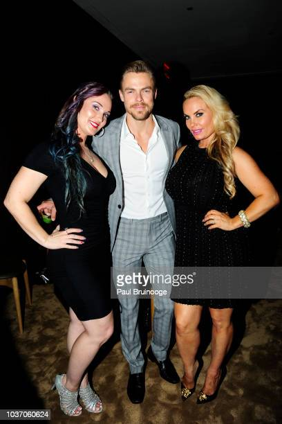 Kristy Williams Derek Hough and Coco Austin attend NBC And The Cinema Society Host A Party For The Casts Of NBC's 20182019 Season at The Four Seasons...