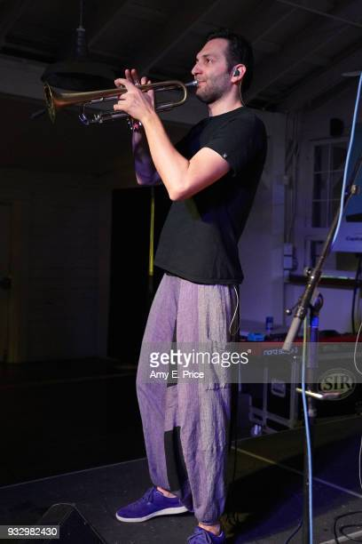 Krisztian Akos Muhari of Bohemian Betyars perform onstage at Sounds from Hungary during SXSW at Palm Door on March 16 2018 in Austin Texas