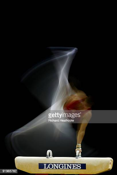 Krisztian Berki of Hungary competes on the pommel horse during the Apparatus Finals on the fifth day of the Artistic Gymnastics World Championships...