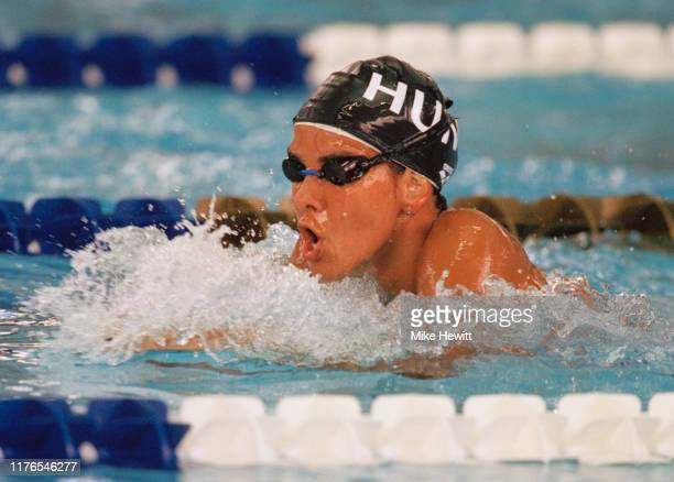 Krisztina Egerszegi of Hungary competes in the Women's 400 metre individual medley on 20th July 1996 during the XXVI Summer Olympic Games at the...