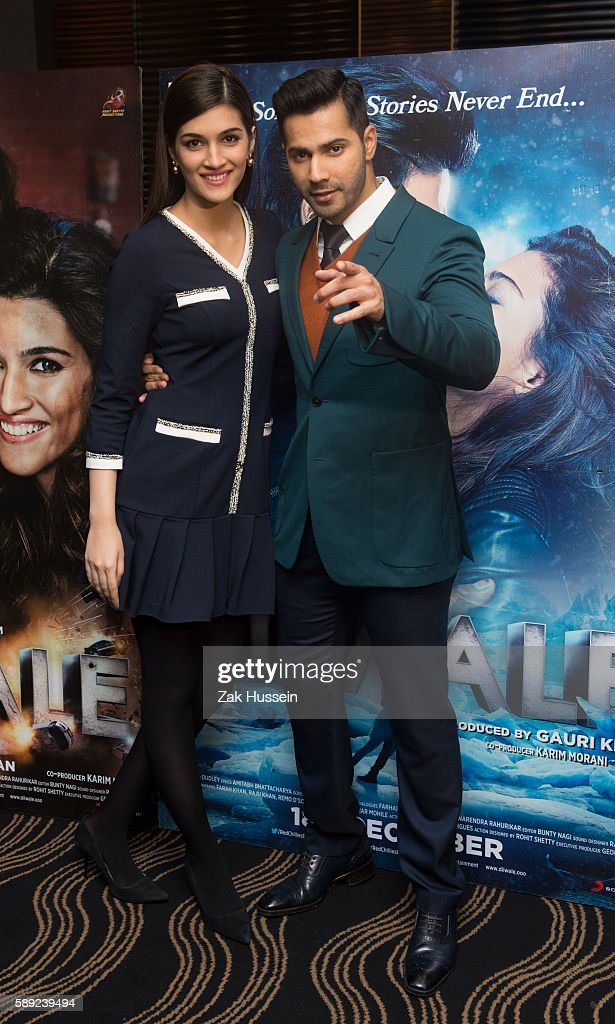 Kriti Sanon and Varun Dhawan attending the photocall for `Dilwale` in London