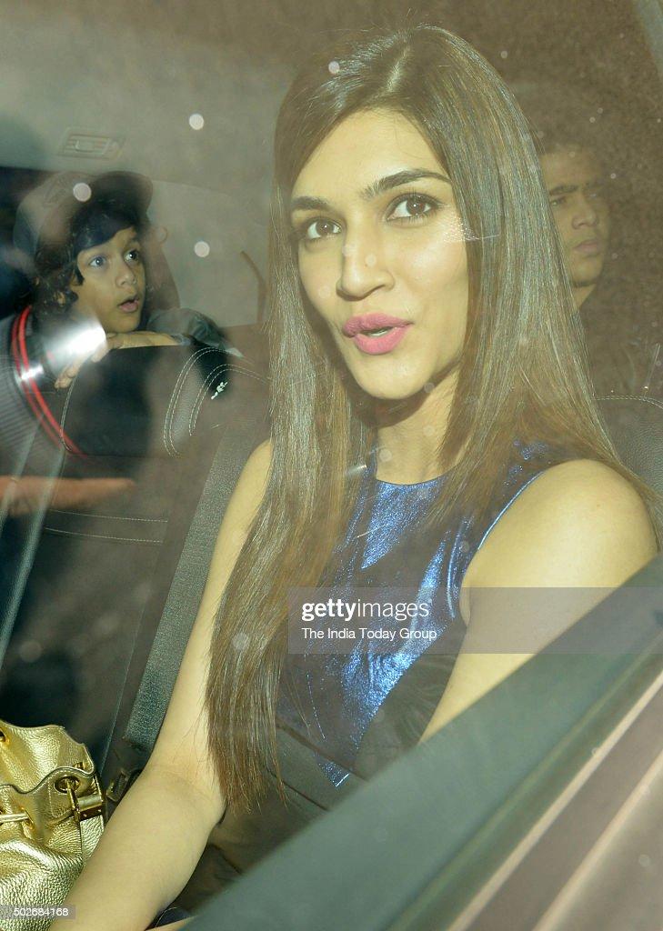 Kriti Sanon at Salman Khan`s birthday celebrations in Mumbai