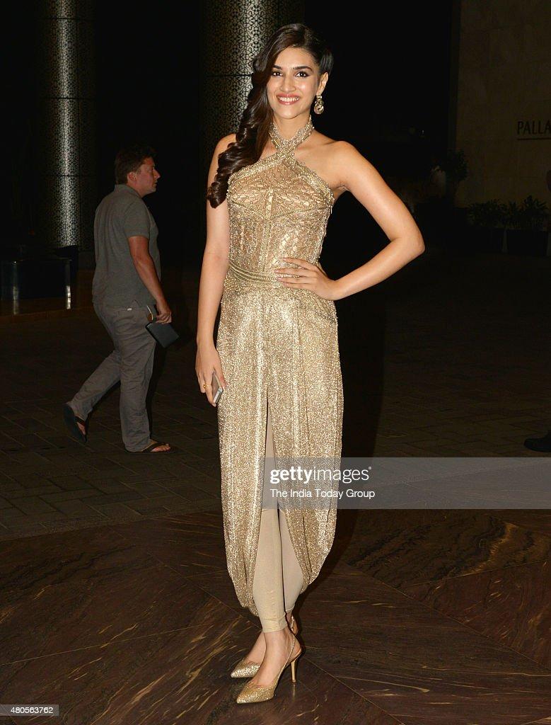 Kriti Sanon at the wedding reception of Shahid Kapur and Mira Rajput in Mumbai