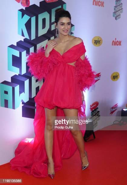 Kriti Sanon attends the Nickelodeon The Kids Choice Awards 2019 on December 202019 in Mumbai India
