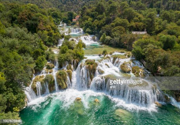 krka national park waterfalls, croatia - croatia stock pictures, royalty-free photos & images
