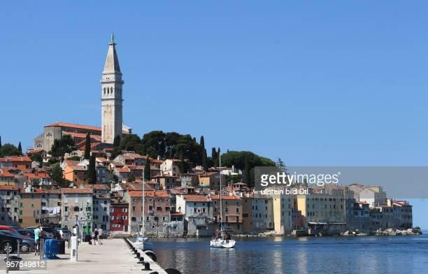 Kroatien Istrien Rovinj Rovigno Ansicht Stadtansicht