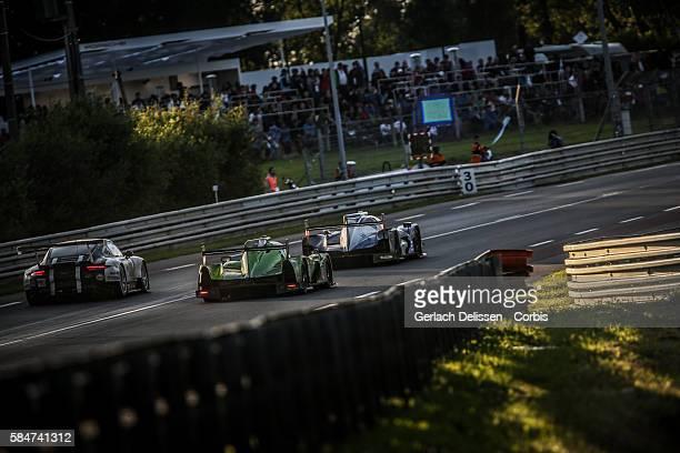 Krohn Racing #40 Ligier JS P2 Nissan with Drivers Tracy Krohn Niclas Jansson and Joao Barbosa racing with LMP2 KCMG #47 Oreca 05 Nissan with Drivers...