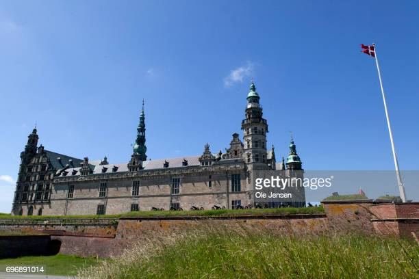 Kronborg Castle as seen at the day where Crown Prince Naruhito of Japan visited famous castle on June 17 Elsinore Denmark One of the actors who meets...