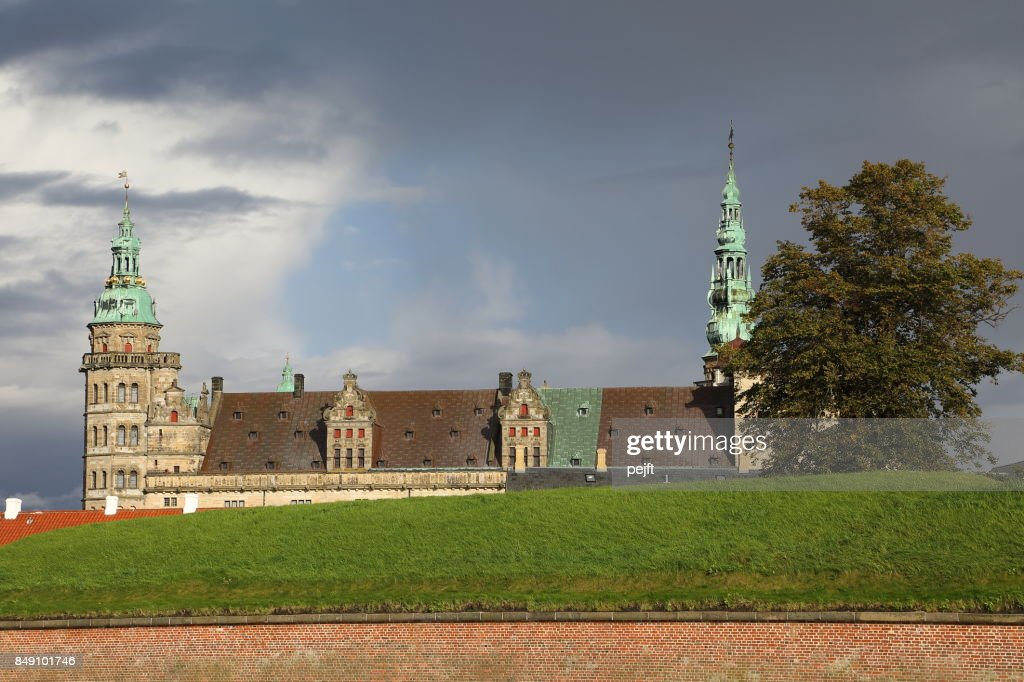 Kronborg Castle - UNESCO Worlds Heritage Site in Elsinore, Denmark : Stock Photo