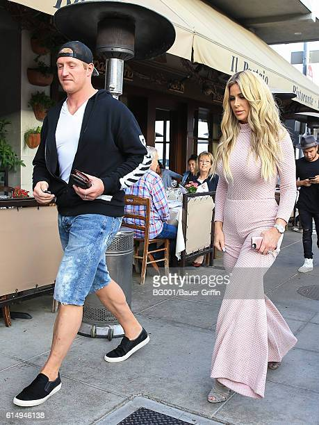 Kroy Biermann and Kim Zolciak are seen on October 15 2016 in Los Angeles California