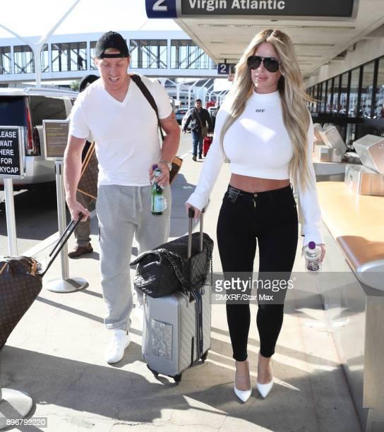 Kroy Biermann and Kim Zolciak seen on December 21 2017 in Los Angeles CA