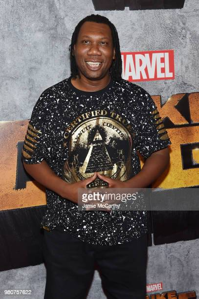 One attends the 'Luke Cage' Season 2 premiere at The Edison Ballroom on June 21 2018 in New York City
