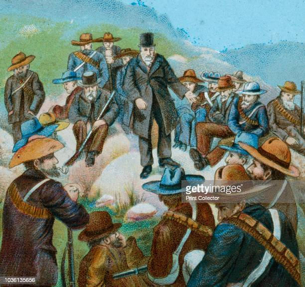 Kruger Appealing to the Burghers at Bloemfontein' 1900 Paul Kruger President of the South African Republic appealing to Afrikaans citizens of the...