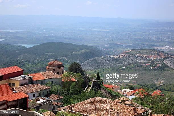 Kruja, Kruje, Albania, view to the city.