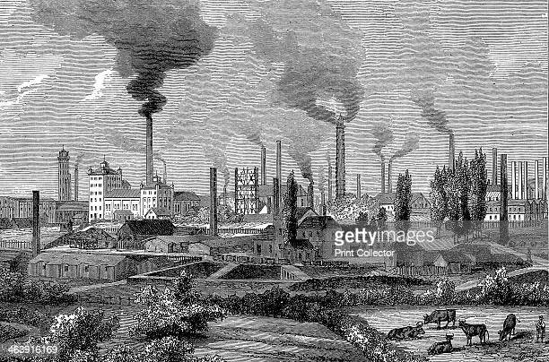 Krupp's works Essen Germany 1896 In 1826 aged only 14 Alfred Krupp took over the steelmaking factory founded by his father Friedrich He made a...