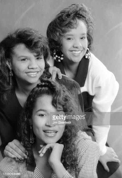 Krush band with Christy Williams Ashley Jackson and Angie Smith pose for a portrait in Minneapolis Minnesota in 1992