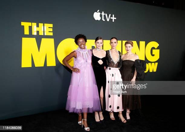 Krys Marshall Shantel VanSanten Jodi Balfour and Sarah Jones attend Apple's global premiere of The Morning Show at Josie Robertson Plaza and David...