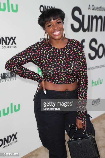 """Krystal Franklin attends a Cinespia Special Screening Of Fox Searchlight And Hulu's """"Summer Of Soul"""" With Questlove at The Greek Theatre on July 09,..."""