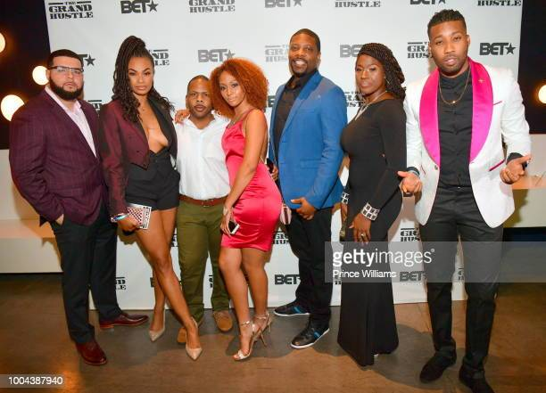 Krystal Garner, Jonathan Torres, Ivan Parker, Jillian Miller, Grace-C McGriff, and Yonathan Elias attend 'The Grand Hustle' Exclusive Viewing Party...