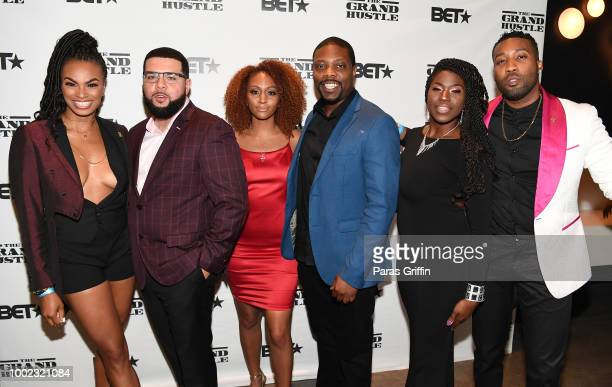 Krystal Garner Jonathan Torres Jillian Miller GraceC McGriff and Yonathan Elias attend The Grand Hustle Exclusive Viewing Party at The Gathering Spot...