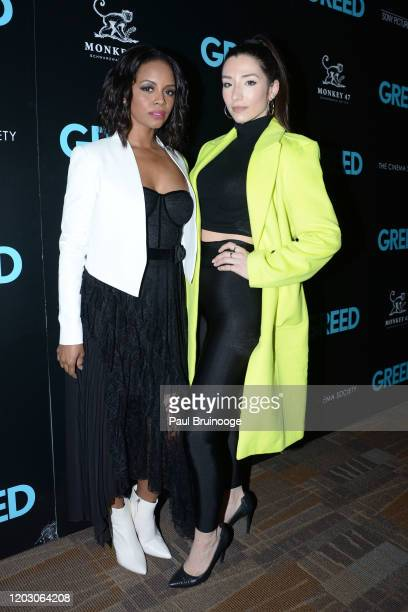 "Krystal Joy Brown and Ashley Loren attend The Cinema Society & Monkey 47 Host A Special Screening Of Sony Pictures Classics' ""Greed"" at Cinepolis..."