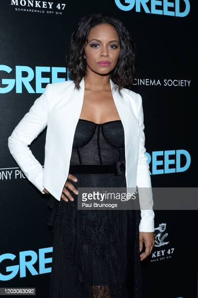 "Krystal Joy Brown attends The Cinema Society & Monkey 47 Host A Special Screening Of Sony Pictures Classics' ""Greed"" at Cinepolis Chelsea on February..."