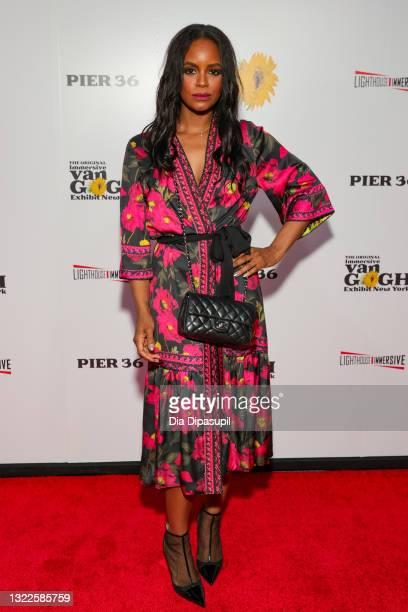 Krystal Joy Brown attends the Immersive Van Gogh Opening Night at Pier 36 on June 08, 2021 in New York City.