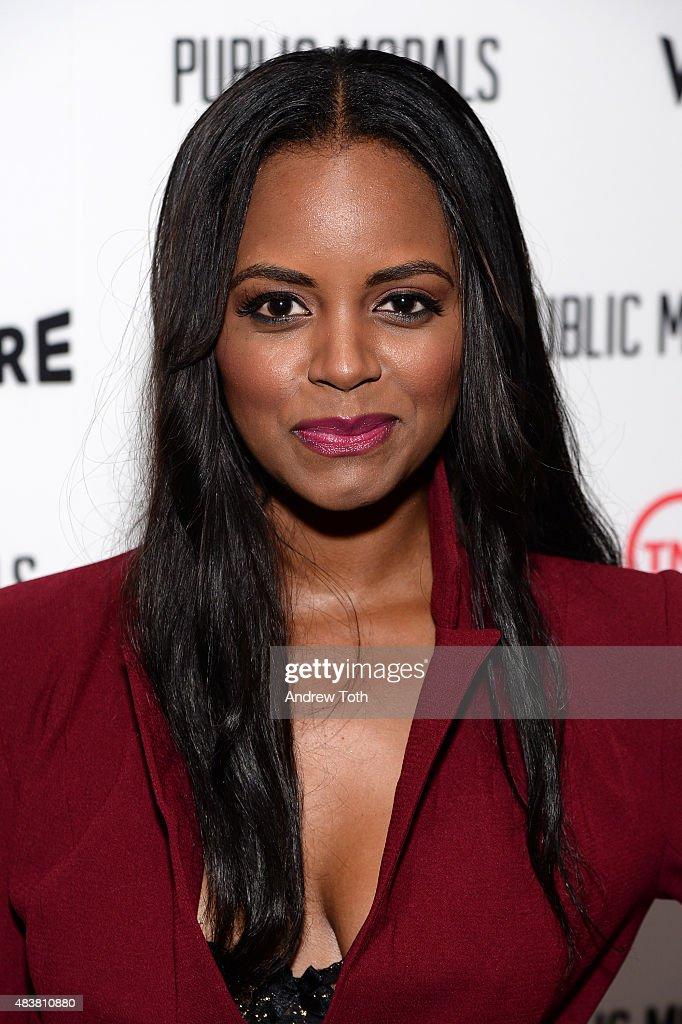 Krystal Joy Brown attends the 'Public Morals' New York series screening at Tribeca Grand Screening Room on August 12, 2015 in New York City.