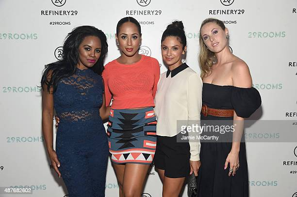 Krystal Joy Brown Margot Bingham Floriana Lima and Samantha Strelitz attend the Refinery29 presentation of 29Rooms a celebration of style and culture...