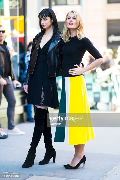 Krysten Ritter and Rachael Taylor are seen in NoHo on March 6 2018 in New York City