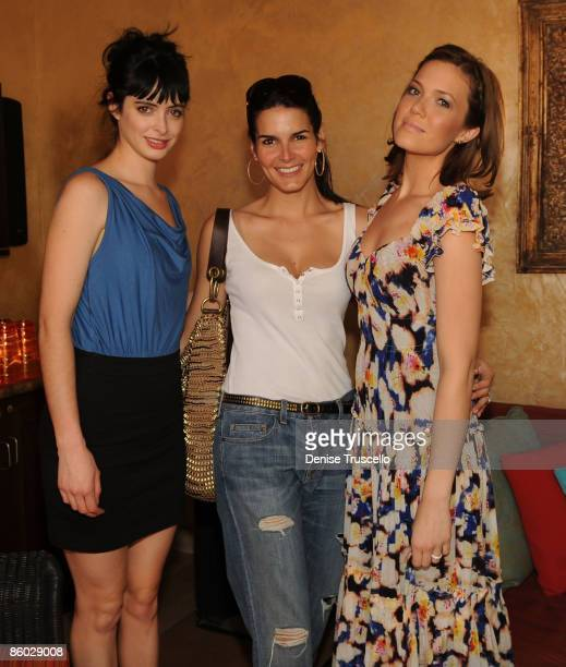 Krysten Ritter Angie Harmon and Mandy Moore attends TAO Beach at The Venetian Hotel and Casino on April 18 2009 in Las Vegas Nevada