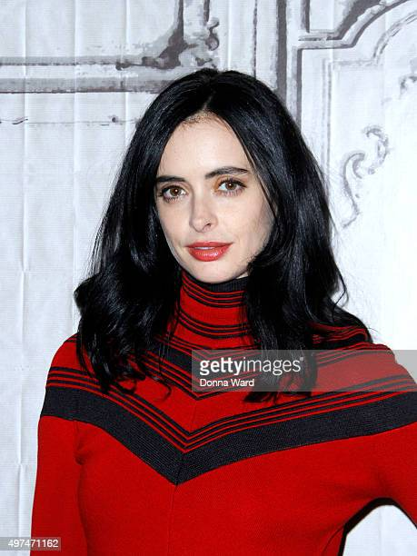 Krysten Ritter appears to promote 'Jessica Jones' during the AOL BUILD Series at AOL Studios In New York on November 16 2015 in New York City