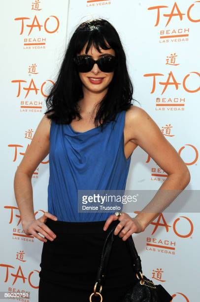 Krysten Ritter arrives at TAO Beach at The Venetian Hotel and Casino on April 18 2009 in Las Vegas Nevada