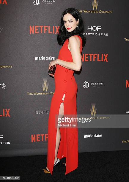 Krysten Ritter arrives at the 2016 Weinstein Company and Netflix Golden Globes afterparty held on January 10 2016 in Los Angeles California