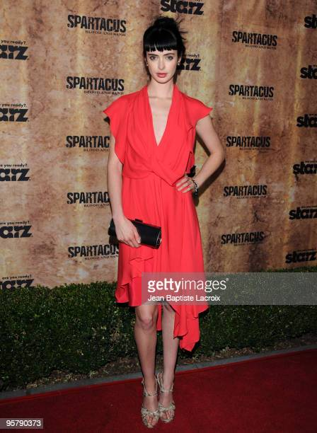 Krysten Ritter arrives at the Starz original TV series 'Spartacus Blood and Sand' at Billy Wilder Theater on January 14 2010 in Westwood Village...